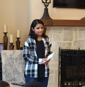 Kayla speaking